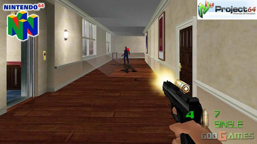 The World Is Not Enough gameplay N64 Version