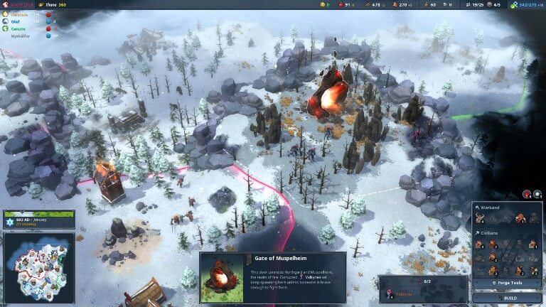 Northgard on steam in march
