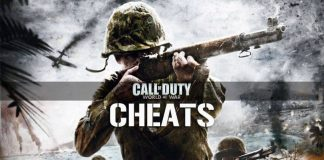 call of duty world at war cheats