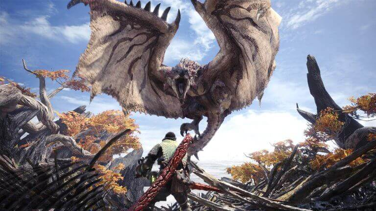 flying monster in monster hunter world