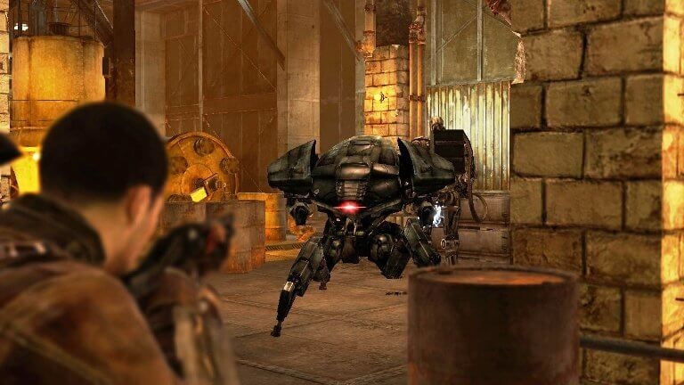terminator salvation video game gameplay screen
