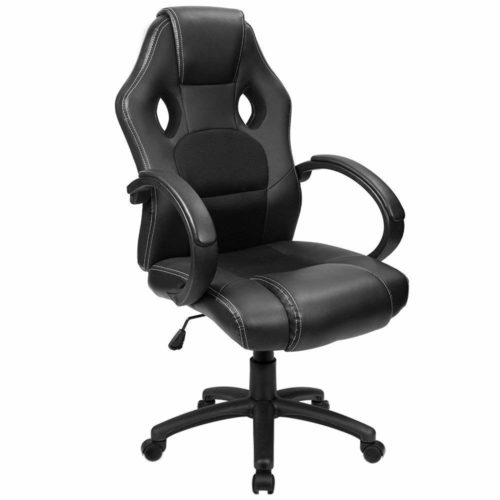 1. Furmax Office Chair Desk Leather Gaming Chair, High Back Ergonomic Adjustable Racing Chair,Task Swivel Executive Computer Chair Headrest and Lumbar Support