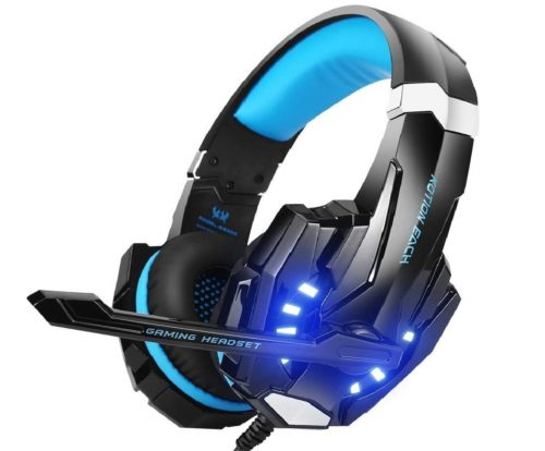 1. BENGOO Gaming Headset with Mice LED Light and Noise Cancelling