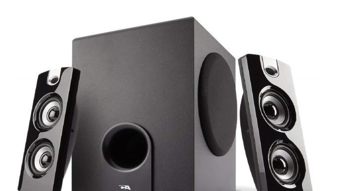 1.Cyber-Acoustics-CA-3602FFP-2.1-Speaker-Sound-System-with-Subwoofer-and-Control-Pod-Great-for-Music-Movies-Multimedia-Pcs-Macs-Laptops-and-Gaming-Systems.