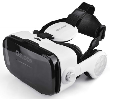 10. Virtual Reality Headset,Osloon 3D VR Glasses Stereo Headphone,Compatible
