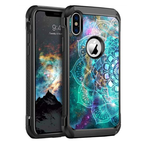 11. BENTOBEN iPhone X Case, iPhone Xs Case Slim Shockproof 2 in 1 Hard PC Soft Bumper Dual Layer Hybrid Luminous Noctilucent Protective Phone Cases Cover