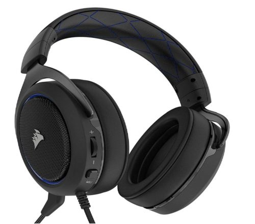 11.CORSAIR-HS50-Stereo-Gaming-Headset-Discord-Certified-Headphones-Designed-to-Work-with-Playstation-4-PS4-Blue