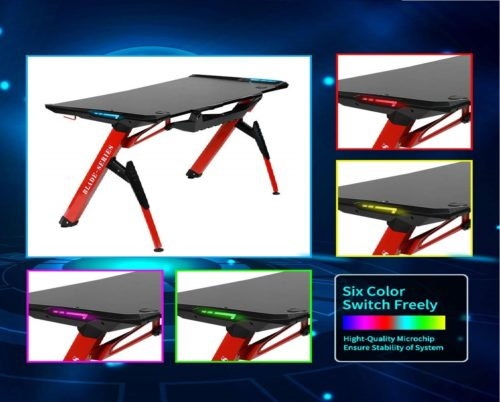 11.Kinsal-Blade-Series-Gaming-Style-Computer-Desk-Office-Desk-Student-Table-PC-Desk-with-RGB-LED-Lights-and-King-Sized-Mouse-Pad-RED