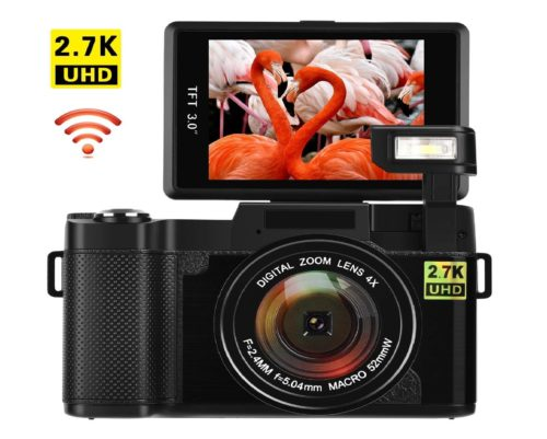 11.Vlogging-Camera-Digital-Camera-24MP-Ultra-HD-2.7K-WiFi-YouTube-Camera-3.0-Inch-180-Degree-Rotation-Flip-Screen-Camera-Retractrable-Flashlight-GI3