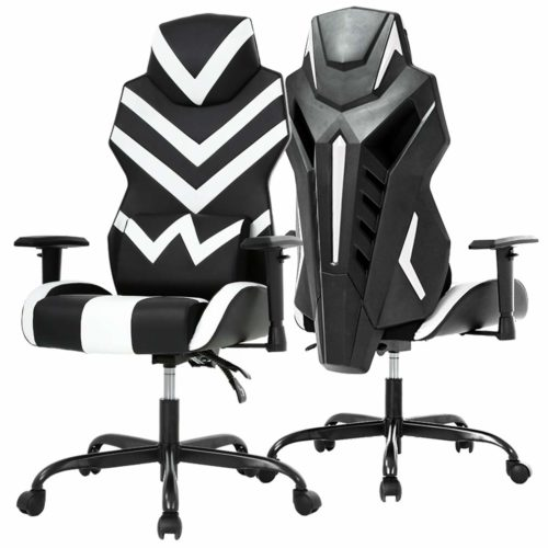 12. High-Back Gaming Chair PC Office Chair Computer Racing Chair PU Desk Task Chair Ergonomic Executive Swivel Rolling Chair