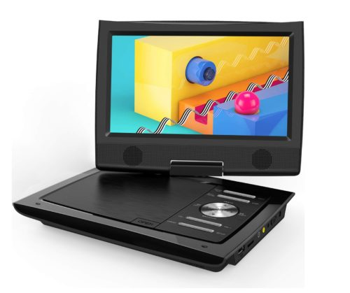 12.ieGeek-11-Portable-DVD-Player-with-Dual-Earphone-Jack-360-Swivel-Screen-5-Hrs-Rechargeable-Battery-Supports-SD-Card-USB-CD-DVD-and-Region-Free-Remote..