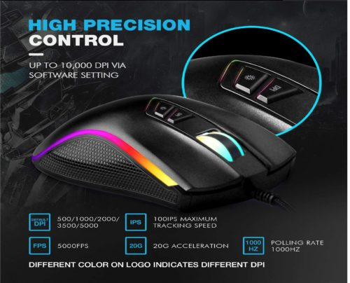 13.HIRALIY-F300-Gaming-Mouse-Wired-10000-DPI-Adjustable-7-Programmable-Buttons-16.8-Million-Chroma-RGB-Color-Backlit-Ergonomic-Comfortable-Grip-for-Gamer..