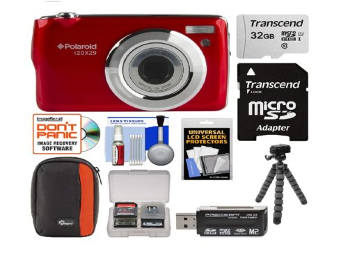 13.Polaroid-i20X29-Digital-Camera-Red-with-32GB-Card-Case-Flex-Tripod-Reader-Kit-e1555675903733