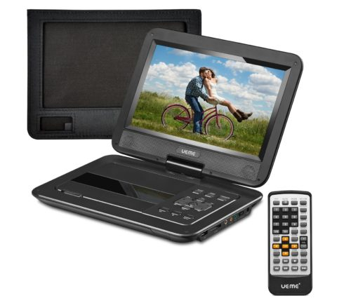 13.UEME-Portable-DVD-CD-Player-with-10.1-Inch-HD-Swivel-Screen-Car-Headrest-Mount-Holder-Remote-Control-Personal-DVD-Player-with-Built-in-Rechargeable.