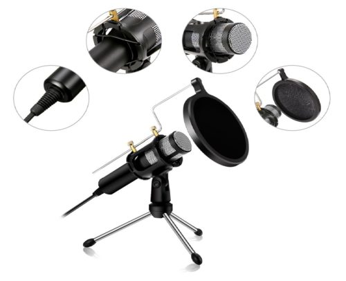 13.USB-Microphone-NASUM-Computer-Microphone,Plug-Play-Home-Studio-MicrophoneCondenser-Microphone,Dual-layer-Acoustic-Filter,-for....