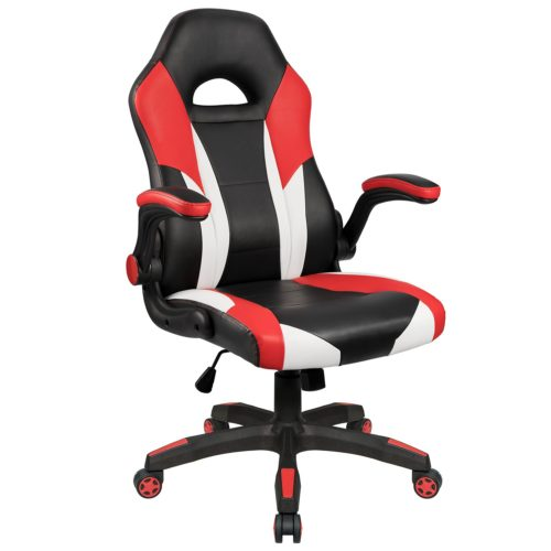 14. Homall Gaming Chair Racing Chair Ergonomic Computer Chair High Back Office Chair PU Leather Desk Chair Executive Swivel Task Chair with Wide Seat Flip Up Padded Armrests