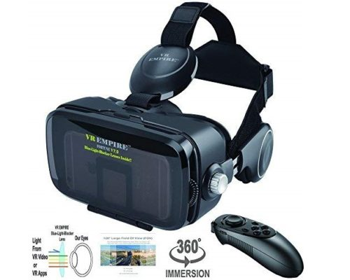 14. VR Headset Virtual Reality Headset 3D Glasses with 120°FOV, Anti-Blue-Light Lenses
