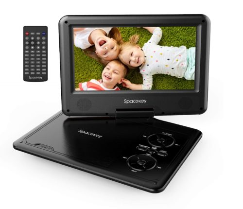 14.Portable-DVD-Player-9-with-5-Hours-Rechargeable-Battery-by-SPACEKEY-Swivel-Screen-Support-USBSD-Slot-and-1.8M-Car-Charger-Support-Memory-and-Region.