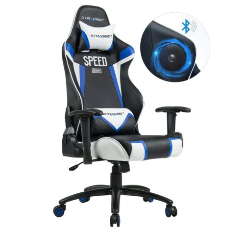 15. GTRACING Audio Gaming Chair with Bluetooth Speaker 【Patented】 Music Video Game Chair Racing Chair Heavy Duty Ergonomic Multi-Function
