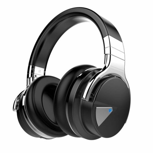 2. COWIN E7 Active Noise Cancelling Headphones Bluetooth Headphones with Mic Deep Bass Wireless Headphones Over Ear, Comfortable Protein Earpads