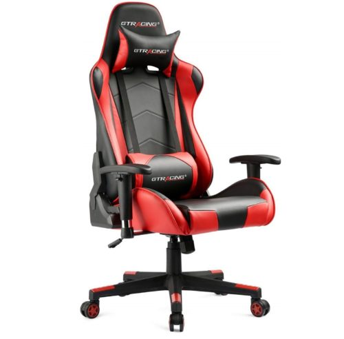 2. GTRACING Gaming Chair Racing Office Computer Game Chair Ergonomic Backrest and Seat Height Adjustment