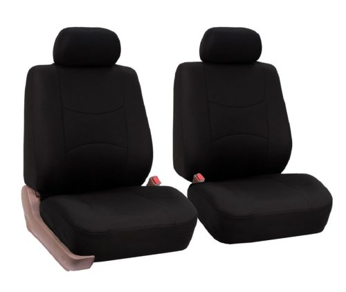 2.FH-Group-Universal-Fit-Flat-Cloth-Pair-Bucket-Seat-Cover-Black-FH-FB050102-Fit-Most-Car-Truck-Suv-or-Van
