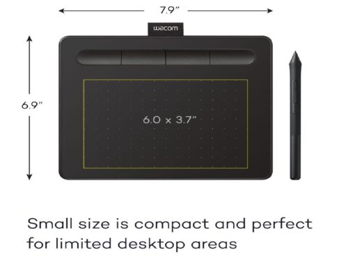 2.Wacom-Intuos-Graphics-Drawing-Tablet-with-3-Bonus-Software-Included-7.9x-6.3-Black-CTL4100