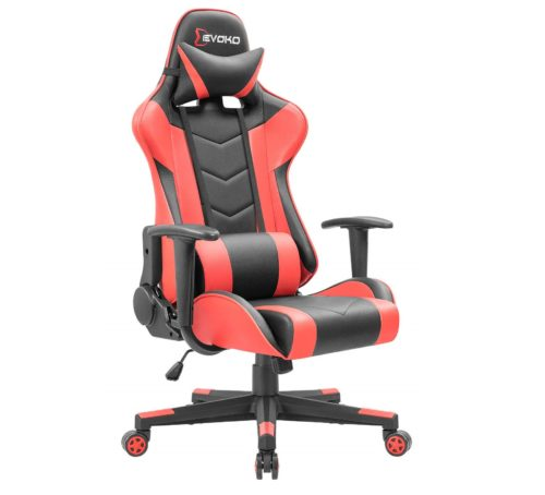 3. Devoko Ergonomic Gaming Chair Racing Style Adjustable Height High-Back PC Computer Chair with Headrest and Lumbar Support Executive Office Chair