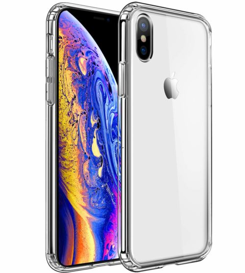 3. MKEKE Compatible with iPhone Xs Case,iPhone X Case,Clear Anti-Scratch Shock Absorption Cover Case iPhone Xs,X