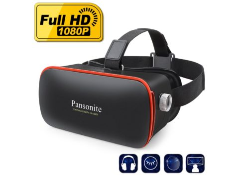 3. Pansonite 3D VR Glasses Virtual Reality Headset for Games & 3D Movies