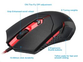4.Redragon-M601-Wired-Gaming-Mouse-Ergonomic-Programmable-6-Buttons-3200-DPI-with-Red-LED-Mouse-for-Windows-PC-Games-Black.