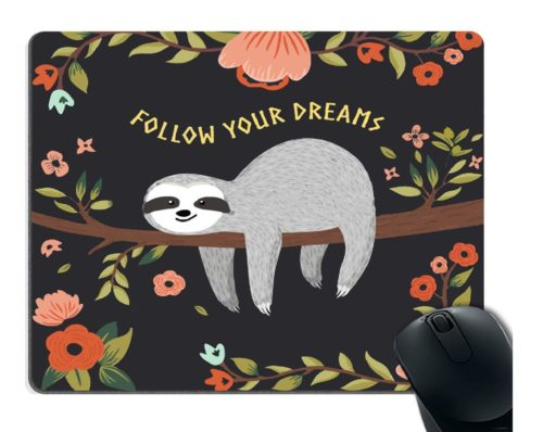 4.Smooffly-Gaming-Mouse-Pad-CustomFollow-Your-Dreams-Mouse-pad-Cute-Baby-Sloth-on-The-Tree-Personality-Desings-Gaming-Mouse-Pad