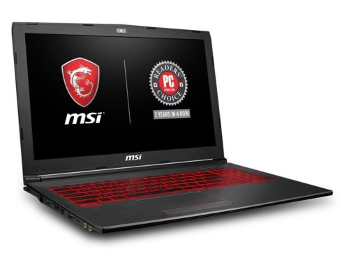 5. MSI GV62 8RD-200 15.6 Full HD Performance Gaming Laptop PC i5-8300H, GTX 1050Ti 4G, 8GB RAM