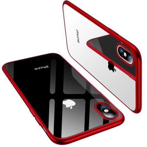 5. TORRAS iPhone Xs Case,iPhone X Case, Ultra Thin Slim Fit Soft Silicone TPU Cover Case Compatible with iPhone X,iPhone Xs 5.8 inch, Red