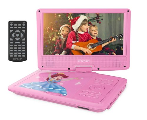5.DBPOWER-9-Portable-DVD-Player-with-Rechargeable-Battery-Swivel-Screen-SD-Card-Slot-and-USB-Port-with-1.8M-Car-Charger-and-1.8M-Power-Adaptor-Pink.