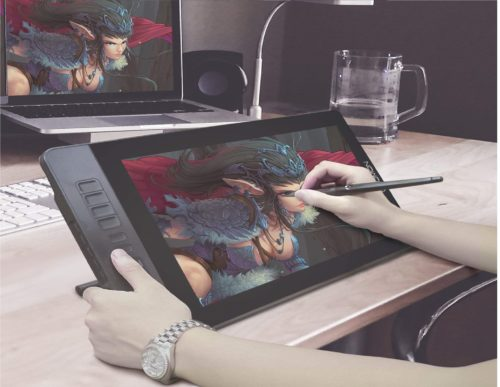 5.GAOMON-PD1560-15.6-Inch-8192-Levels-Pen-Display-with-Arm-Stand-1920-x-1080-HD-IPS-Screen-Drawing-Tablet-with-10-Shortcut-Keys-for-Windows-Mac-Laptop-PC