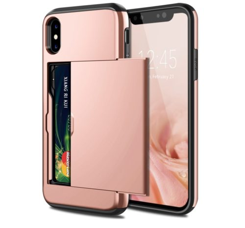 6. SAMONPOW iPhone X Case, iPhone 10 Case,Hybrid iPhone X Wallet Case Card Holder Shell Heavy Duty Protection Shockproof
