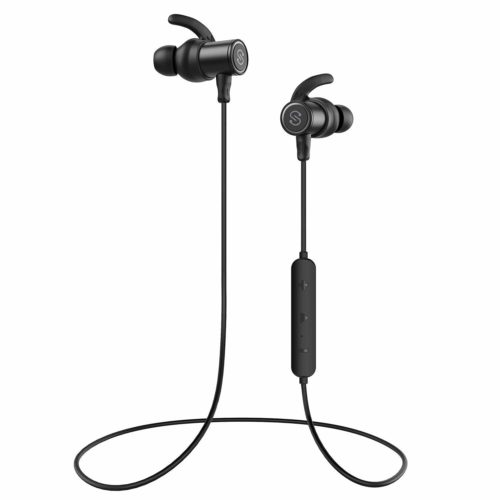 6. SoundPEATS Magnetic Wireless Earbuds Bluetooth Headphones Sport in-Ear IPX 6 Sweatproof Earphones with Mic