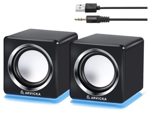 6.ARVICKA-Computer-Speaker-LED-Accents-USB-Speaker-Small-Mighty-Solid-Wired-Multimedia-Speaker-for-PC-Monitor-Desktop-Laptop-Gaming-Smartphones-Tablets..