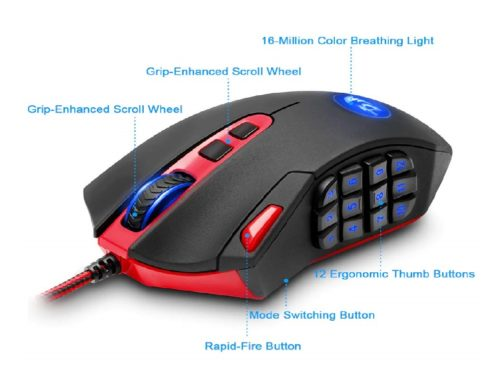 6.Redragon-M901-Gaming-Mouse-Wired-Programmable-MMO-RGB-LED-Mice-24000-DPI-Laser-High-Precision-Sensor-Weight-Tuning-Set-18-Buttons-for-Windows-PC...