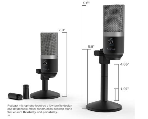 6.USB-MicrophoneFIFINE-PC-Microphone-for-Mac-and-Windows-ComputersOptimized-for-RecordingStreaming-TwitchVoice-oversPodcasting-for-YoutubeSkype-chats.K670