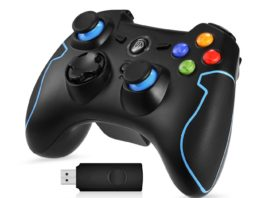 7. EasySMX 2.4G Wireless Controller for PS3, PC Gamepads with Vibration Fire Button Range up to 10m Support PC