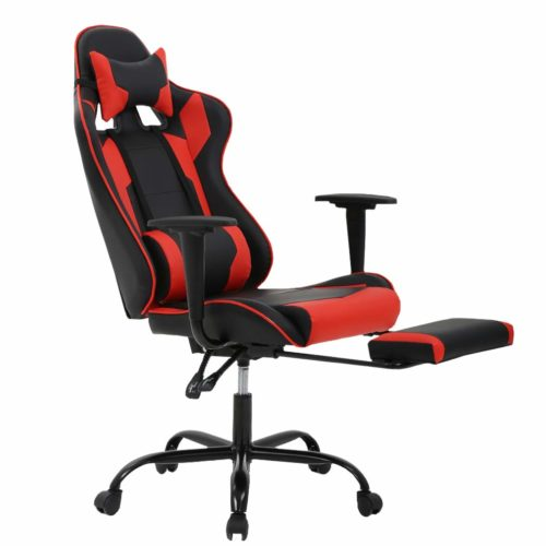 7. Gaming Chair Ergonomic Swivel Chair High Back Racing Chair, with Footrest, Lumbar Support and Headrest