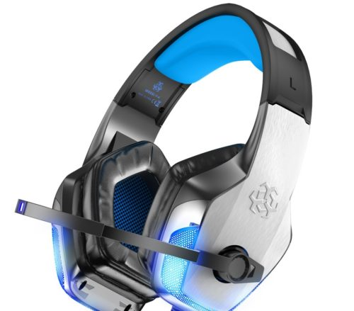 9. BENGOO Gaming Headset with Modern Noise Cancelling and LED Light