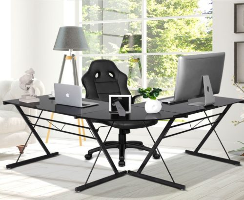 7.Tangkula-L-Shaped-Corner-Desk-Corner-Computer-Desk-Modern-Simple-Style-3-Piece-Metal-Frame-Study-Laptop-Desk-Writing-Gaming-Table-Computer-Workstation..