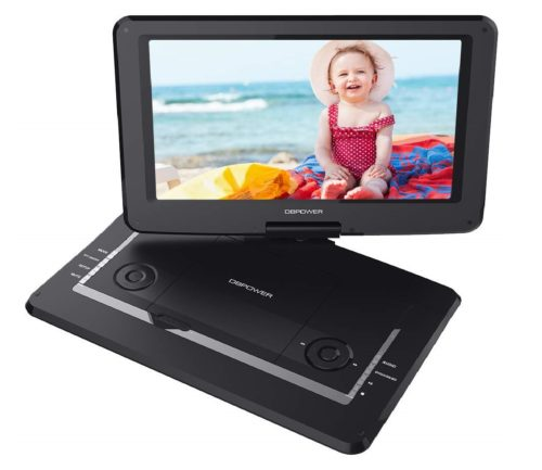 8.DBPOWER-14-Portable-DVD-Player-with-Rechargeable-Battery-Swivel-Screen-Supports-SD-Card-and-USB-with-1.8M-Car-Charger-and-1.8M-Power-Adaptor-Black