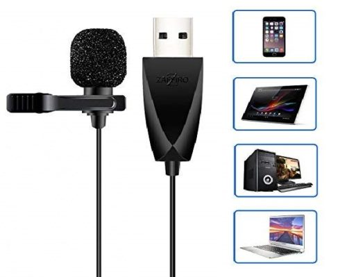 8.USB-Microphone-Z-ZAFFIRO-Lavalier-Mic-Lapel-Clip-on-Microphone-for-Computer-PC-Laptop-MacMacbookPS4.-Perfect-for-Video-Yutube-RecordingInterviews.