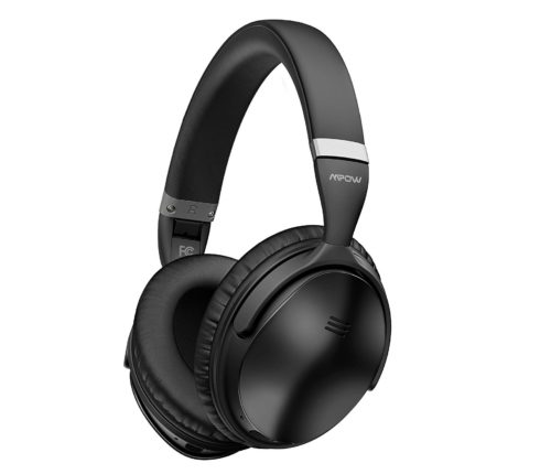 9. Mpow H5 Active Noise Cancelling Bluetooth Headphones, Superior Deep Bass & 30Hrs Playtime, Soft Protein Earpads, ANC Over-Ear Wireless Headphones with Mic