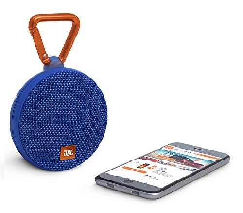 9.JBL-Clip-2-Waterproof-Portable-Bluetooth-Speaker-Blue