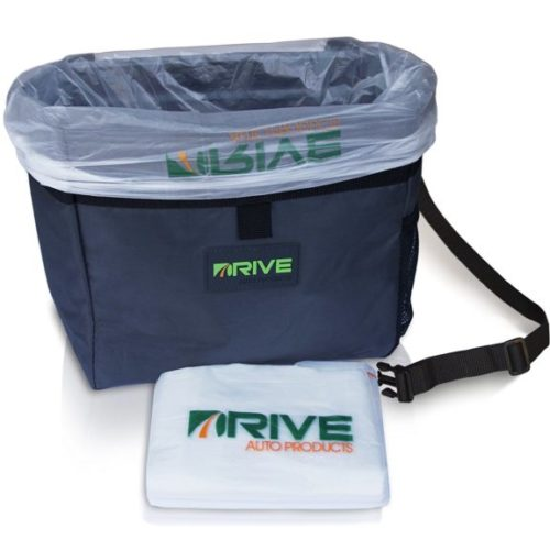 1. Car Garbage Can by Drive Auto Products from The Drive Bin As Seen On TV Collection, Black Strap
